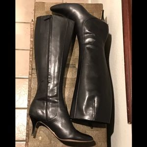 Cole Haan Carlyle Black Leather Boots 8.5 EUC